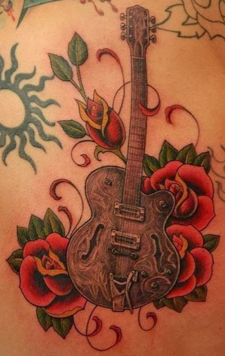 Guitar Tattoo Designs with Meanings 7
