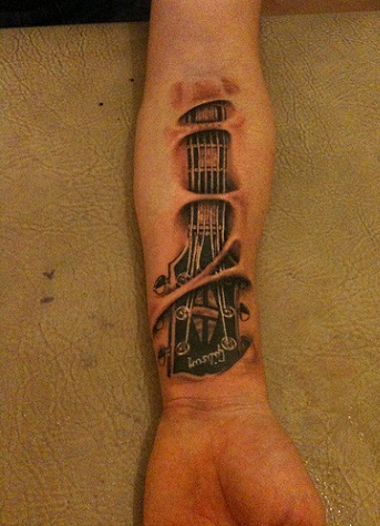 Guitar Tattoo Designs with Meanings 9