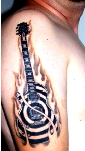 music sign tattoo