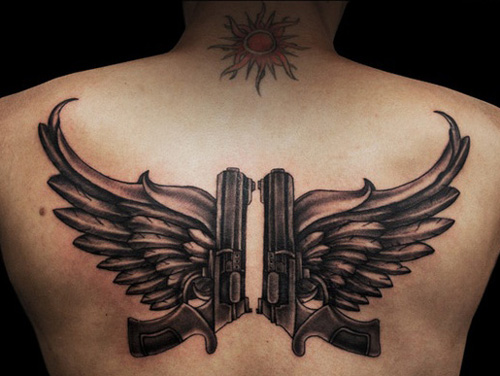 Guns with wings