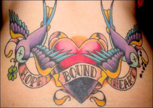 Hope Bound Heart Tattoo