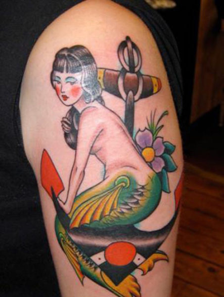 478975f7c 15 Simple and Traditional Mermaid Tattoo Designs