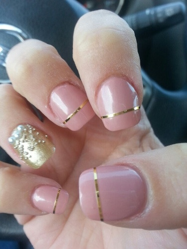 Light Pink and Gold Design