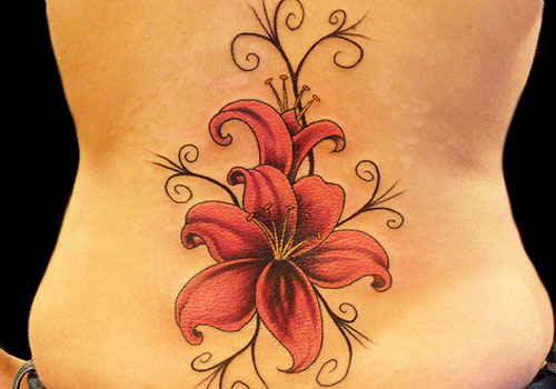 Lily Back Flower Tattoo: 15 Beautiful Lower Back Tattoo Designs And Names