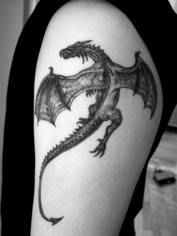 Lizard dragon tattoo