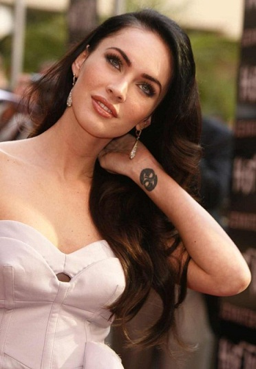 Megan Fox Tribal WavesTattoo