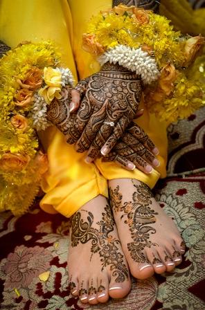 bridal style mehndi