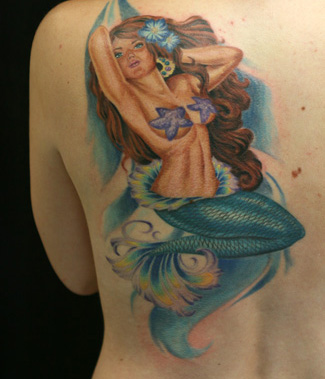 Mesmerizing Mermaid Tattoo