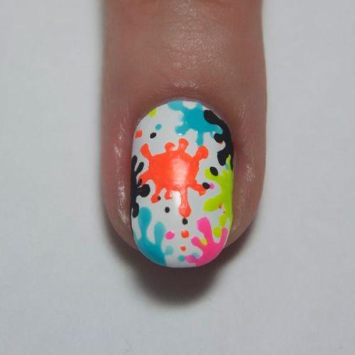 Mixed Colored Nail Design