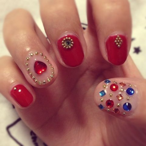 Multi colored Nail art