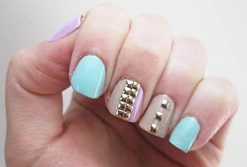 The Multi-coloured Nail Art