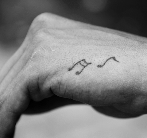 small music tattoos