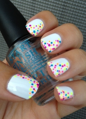 Nail art using decals