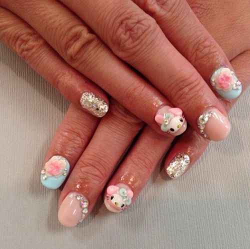 Nail design with special materials