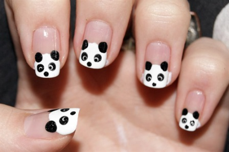 100 beautiful and best nail art designs for beginners at home its very easy to create panda nails using dotting tools if you are just as lazy as the animal or at least people think that you prinsesfo Gallery