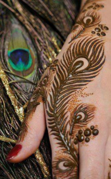peacock mehandi designs
