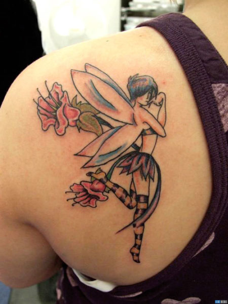Playful Fairy Tattoo