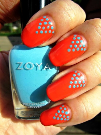Polka Dot Nail design 2