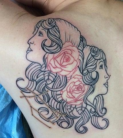 retro-gemini-tattoo