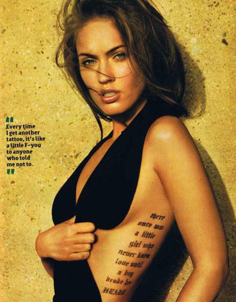 Rib Cage Quote Tattoo