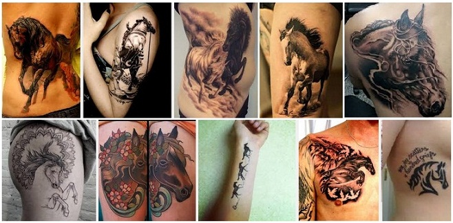 d58504dd8 15 Simple & Traditional Horse Tattoo Designs With Meanings