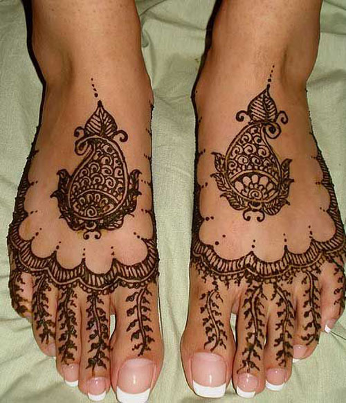 Mehndi Designs For Feet Simple : Trendy foot mehndi designs with pictures style at life