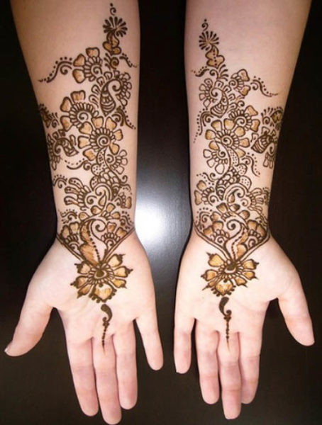 Mehndi Designs With Flowers : Simple and easy mehndi tattoo designs with pictures