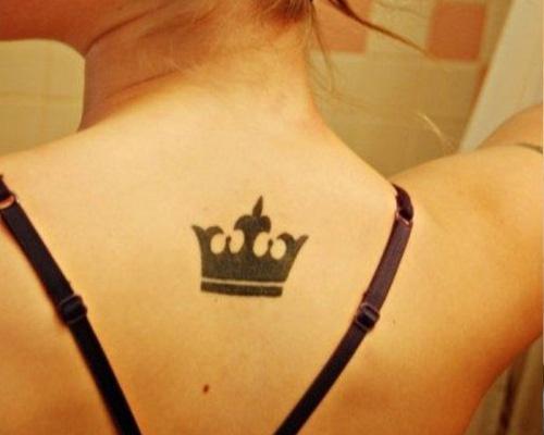 Small black crown tattoo designs