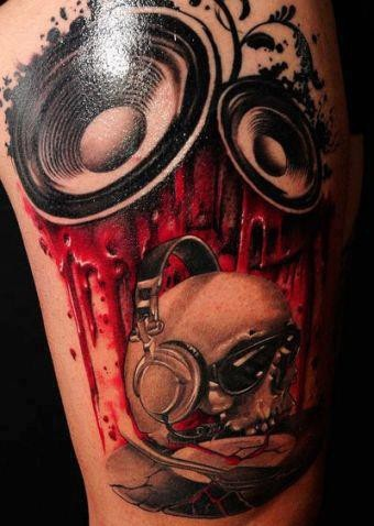 music related tattoos