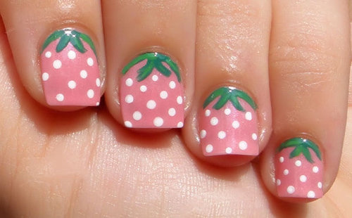 9 cute strawberry nail art designs styles at life while prinsesfo Image collections