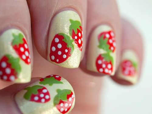 Another Strawberry Nail Art: A ... - 9 Cute Strawberry Nail Art Designs Styles At Life