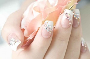 9 best rhinestone nail art designs styles at life some women like their nails prinsesfo Image collections