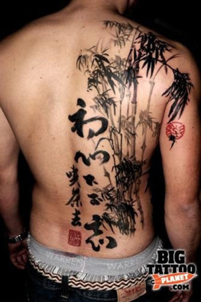 The Japanese kanji tattoo