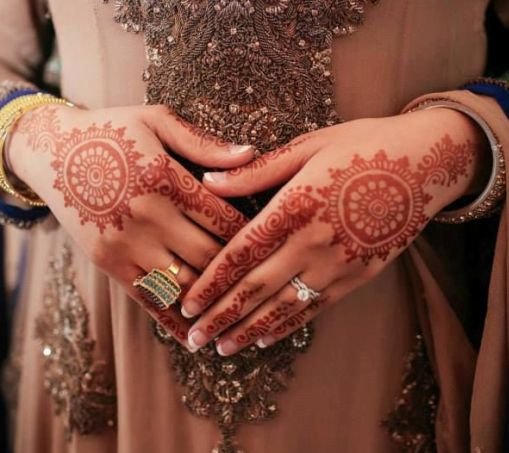 Traditional Circular Mehendi Art