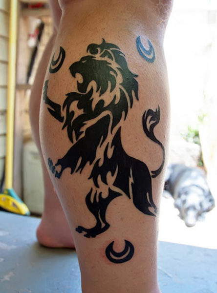 tribal lion tattoo designs and meaning. Black Bedroom Furniture Sets. Home Design Ideas