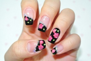 9 simple and easy rose nail art designs with images styles at life to make your rose nail art prinsesfo Gallery