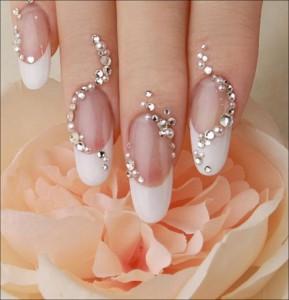 9 best rhinestone nail art designs styles at life well decorated rhinestone nail art a prinsesfo Gallery