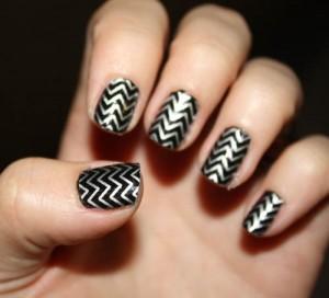 Wonderful Patterns Silver Nail Art A