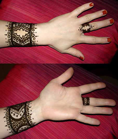 15 Beautiful Bangle Mehandi Designs With Images