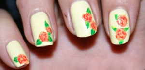 9 simple and easy rose nail art designs with images styles at life the yellow rose nail art prinsesfo Gallery