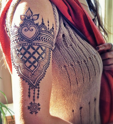 Mehndi Tattoos For Arm : Simple and easy mehndi tattoo designs with pictures