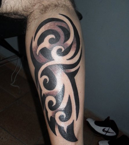 leg tattoo design for men