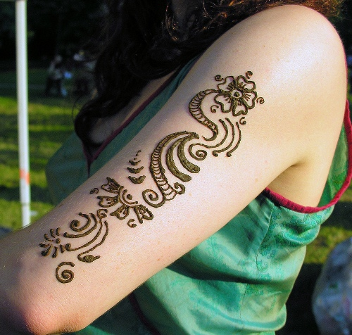 Easy Arm Mehndi Designs : Simple and easy mehndi tattoo designs with pictures