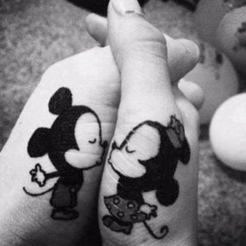 thumb cartoon finger tattoo