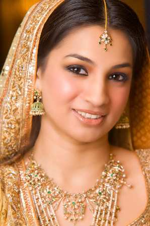 Gold Bridal Makeup Look