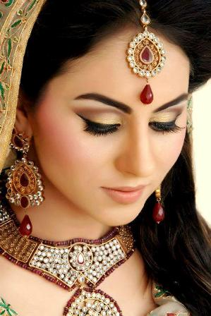 Gold and Red Bridal Makeup
