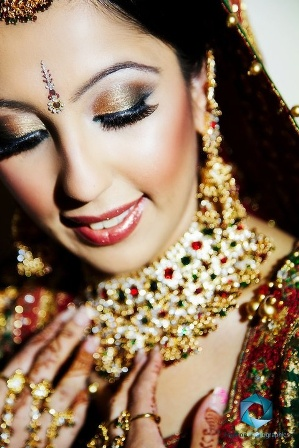 Bronze Bridal Makeup Look