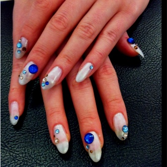 9 best crystal nail art designs  styles at life