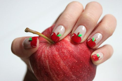 Apple Fruit Nail Art