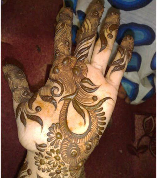 Arabic shaded mehndi designs